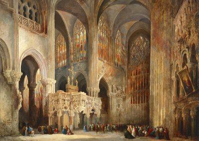 La catedral de Saint Jaques le Mineur, Lieja