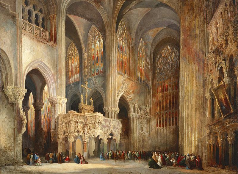 A catedral de Saint Jaques le Mineur, Lieja